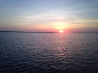 Beautiful sunset on the Elizabeth River during our dinner cruise